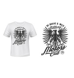 eagle motors club t-shirt print mockup military vector image