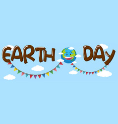 earth day banner concept vector image