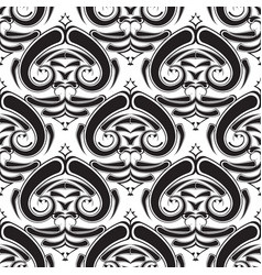 ethnic style tribal black and white paisley vector image