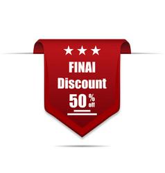 final discount 50 off label vector image