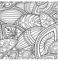 Floral oriental seamless pattern abstract linear vector