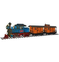 Funny american steam train vector