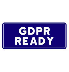 Gdpr ready rounded rectangle seal template vector