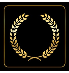 Gold laurel wreath design vector