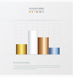 Graph and infographic design gold bronze vector