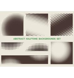 Grunge halftone patterns set vector image