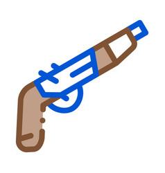 gun pistol icon outline vector image
