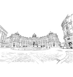 hofburg palace st michaels square vienna vector image