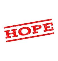 Hope Watermark Stamp vector