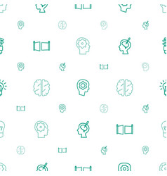 imagination icons pattern seamless white vector image