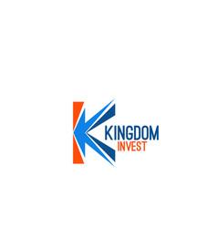 kingdom invest sign vector image