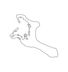 Kiribati map silhouette vector