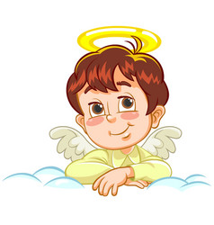 Little baby angel with crossed arms vector