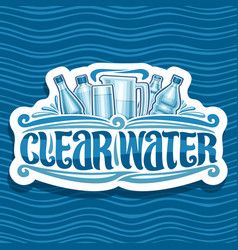Logo for clear water vector