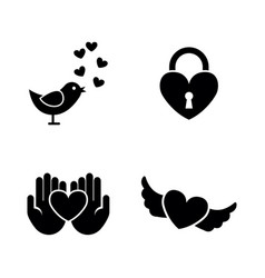 love simple related icons vector image