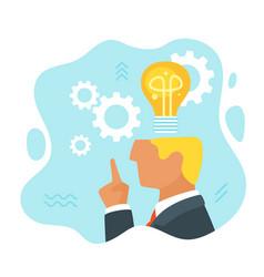 man having an idea vector image