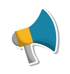 Megaphone communication isolated icon vector