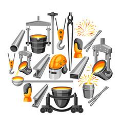 Metallurgical background design vector