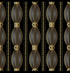Modern geometric striped meander seamless pattern vector