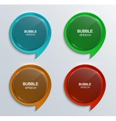 modern glass bubble speech icons set vector image