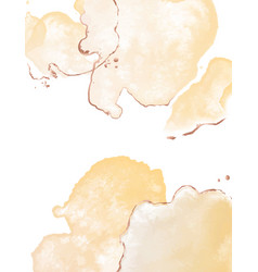 Modern watercolor with yellow blobs and glitter vector