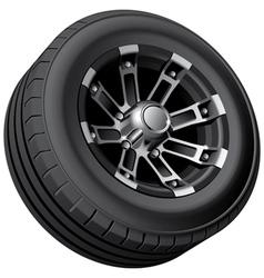 Off road vehicle wheel vector