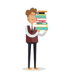 Office Worker Character vector image