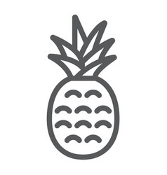 pineapple line icon fruit and ananas vector image