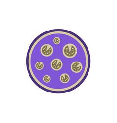Pizza simple icon top vector