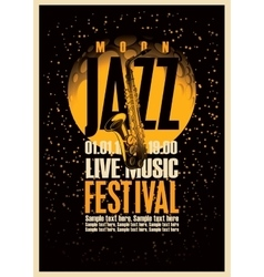 Poster or jazz festivals vector