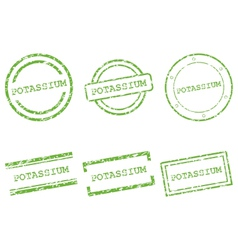 Potassium stamps vector image