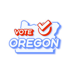 Presidential vote in oregon usa 2020 state map vector