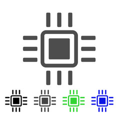 Processor flat icon vector