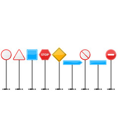 road signt stand- set icon vector image