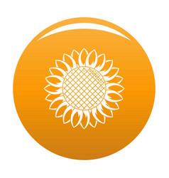 round sunflower icon orange vector image