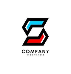 S initial letter hexagon modern logo design vector