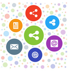 send icons vector image