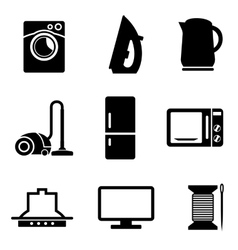 Set of home appliances icons vector