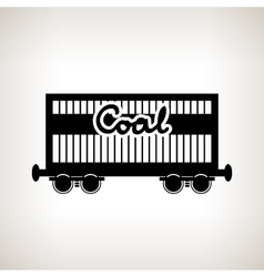 Silhouette the railway freight car for coal vector