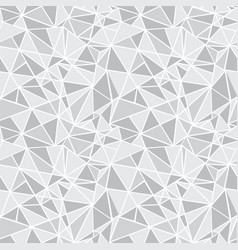 Silver grey geometric mosaic triangles vector