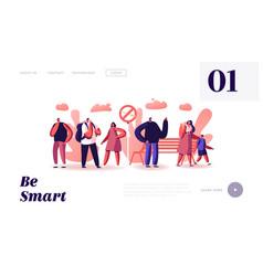 smoking addiction website landing page people vector image