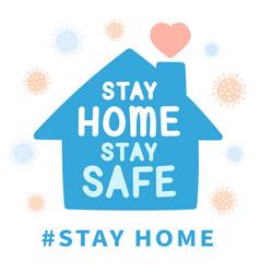 stay home prevent coronavirus outbreak design vector image
