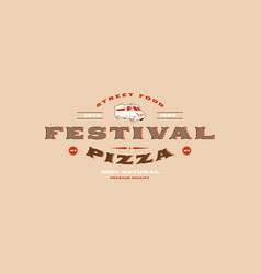 Stock template label of street food festival vector