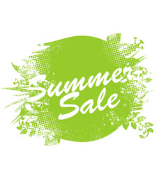 Summer sale label watercolor badge with ink vector