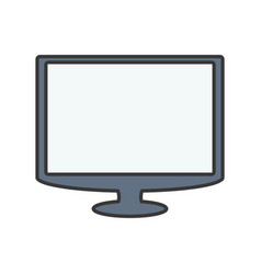 Tv screen technology vector