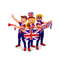 uk flag english people united kingdom day vector image