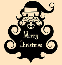 vintage santa claus with a big beard smileshappy vector image