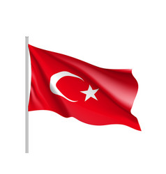 Waving flag of turkey vector