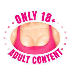 web banner for adult content vector image