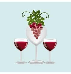 wine icon design vector image